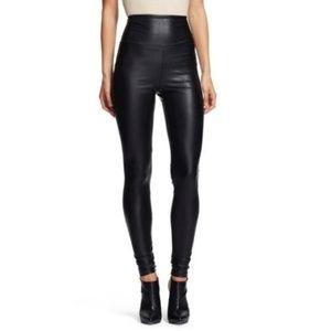 Pants - High Waist Matte Vegan Leather Leggings XL NEW!